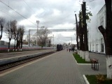 Грузовой магистральный паровоз Л - 2344 отправляется резервом с Рижского вокзала к светофору. Дата создания : 19.10.2013 г.